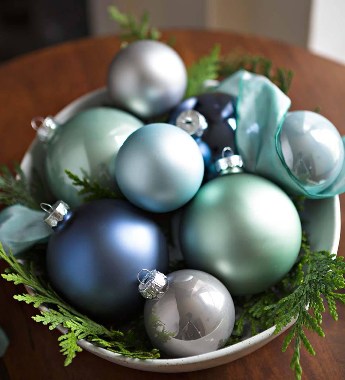 Christmas Ornament Sets.Winter Wonderland Glass Christmas Ornaments Set Of 52