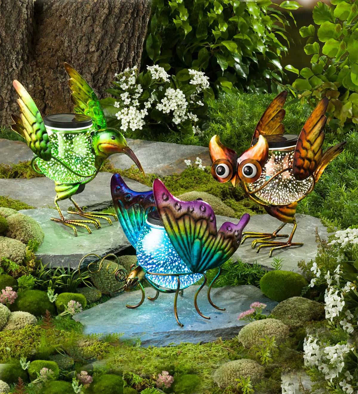 solar globe animal garden accent - Garden Accents