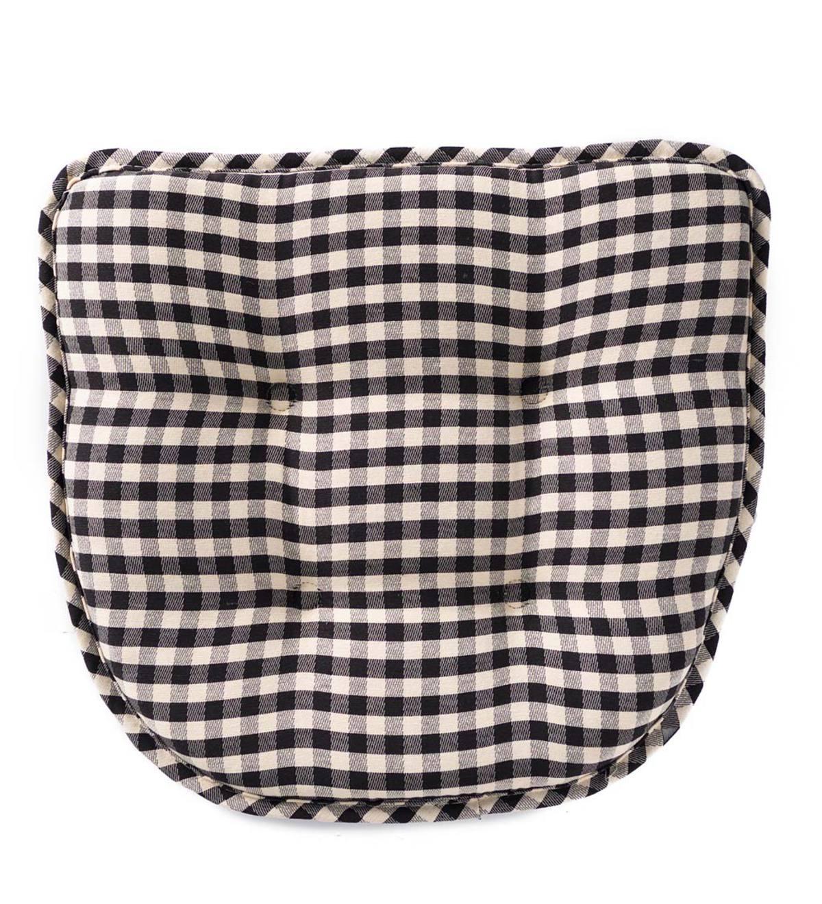 Non-Slip Gingham Chair Pad - Green