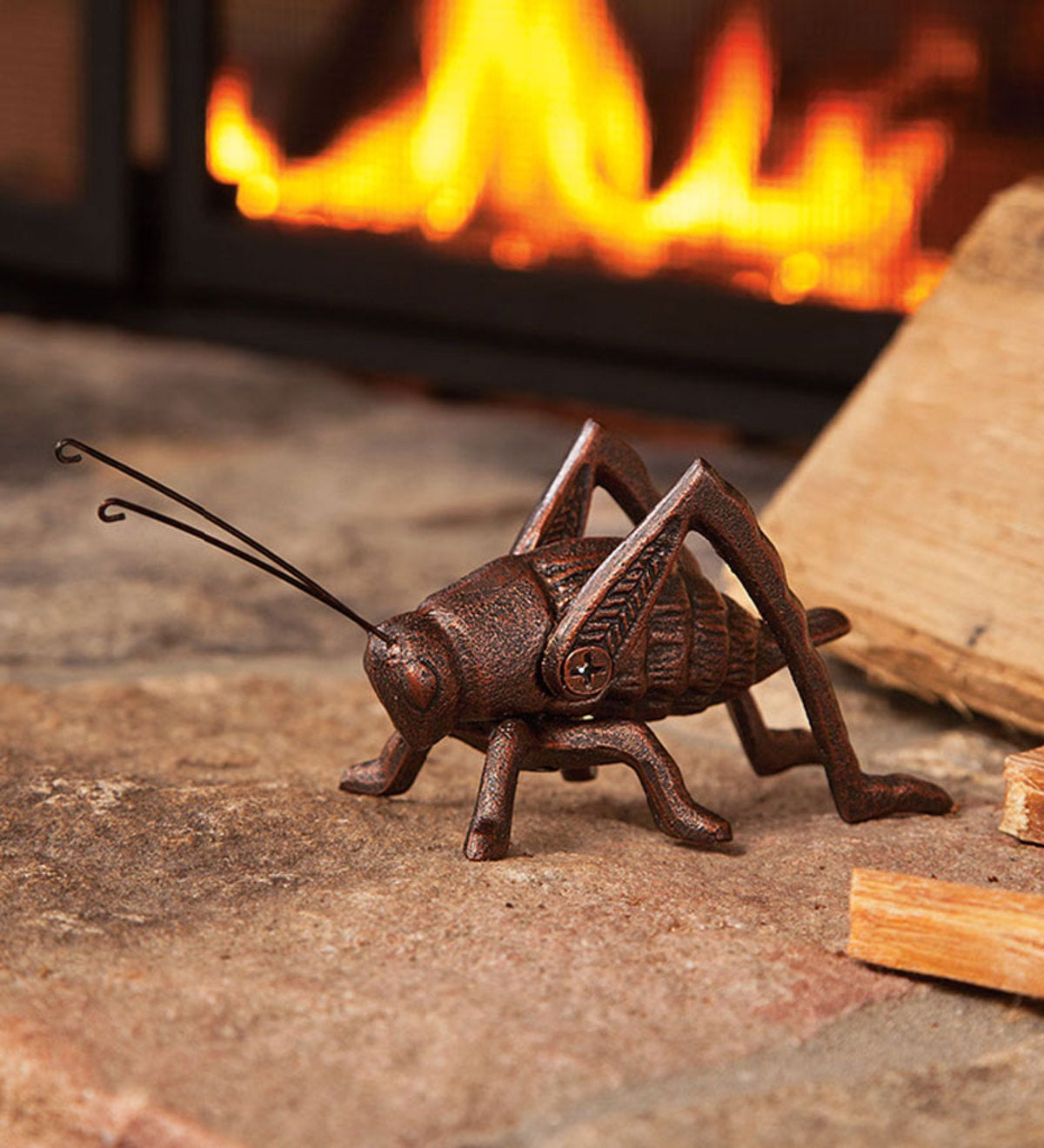 Cast Iron Hearth Cricket Fireplace Accent