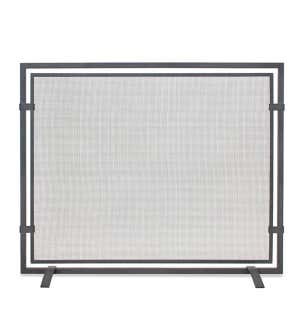 Sinclair Single Panel Fireplace Screen In Natural Iron Finish Iron Plowhearth