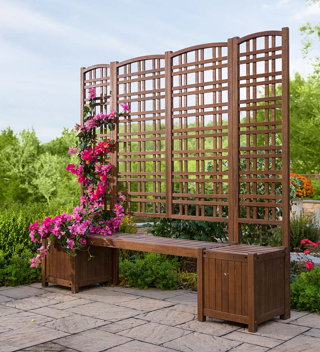 outdoor eucalyptus privacy screen trellises and planters plowhearth Backyard Privacy Screens outdoor eucalyptus privacy screen trellises and planters
