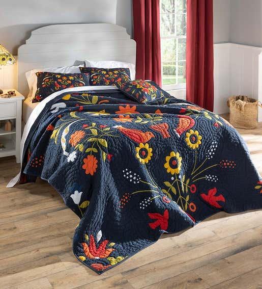 Image of Ansley Folk Quilt. Shop Guest Room