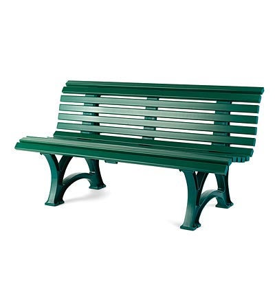 "59"" x 31-1/2""H German-Made, Weatherproof Resin Outdoor Garden Bench"