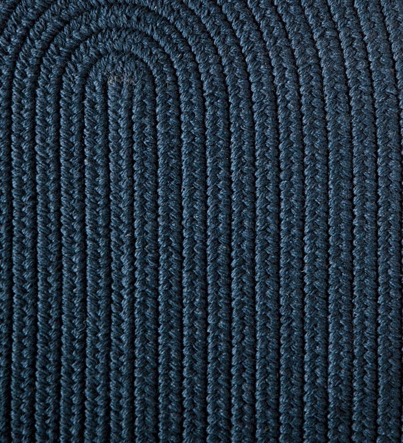 Blue Ridge Wool Oval Braided Rug 2 3 X 8 Runner Navy