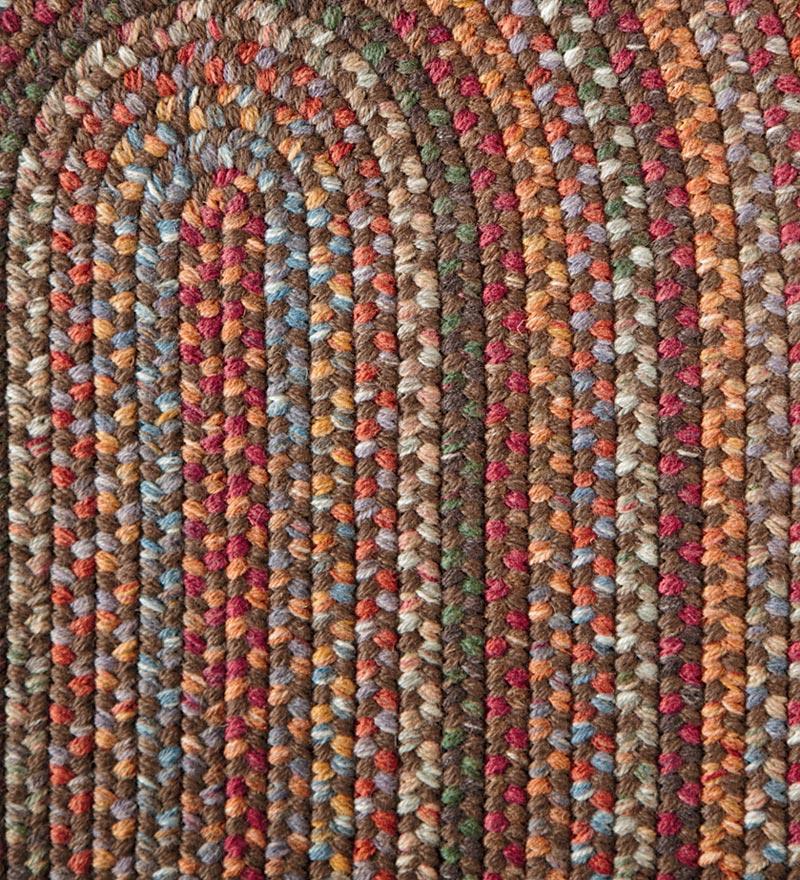 Blue Ridge Wool Oval Braided Rug 2 3 X 8 Runner Walnut