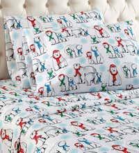 King Polar Bears Micro Flannel Sheet Set Plowhearth