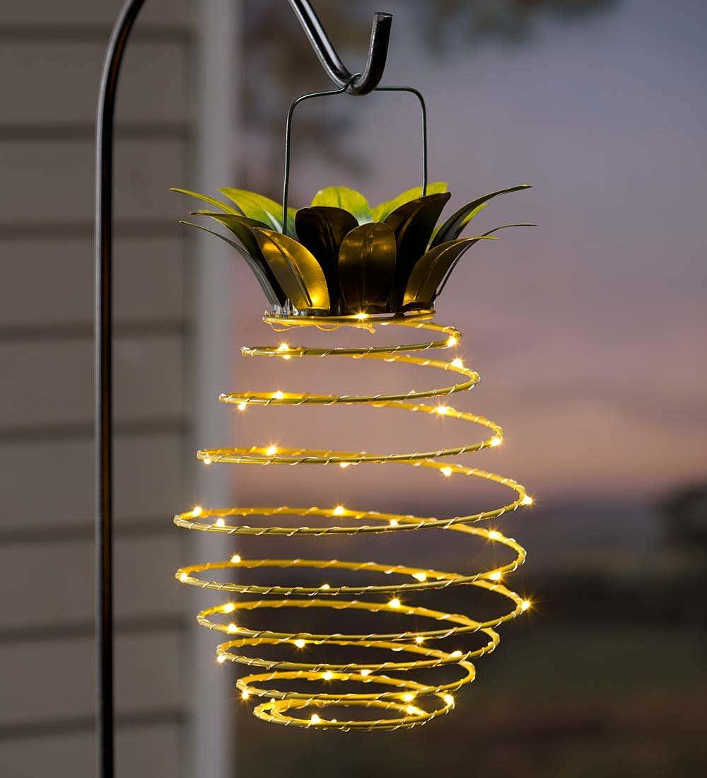 Hanging Solar Lantern Decoration, Pineapple