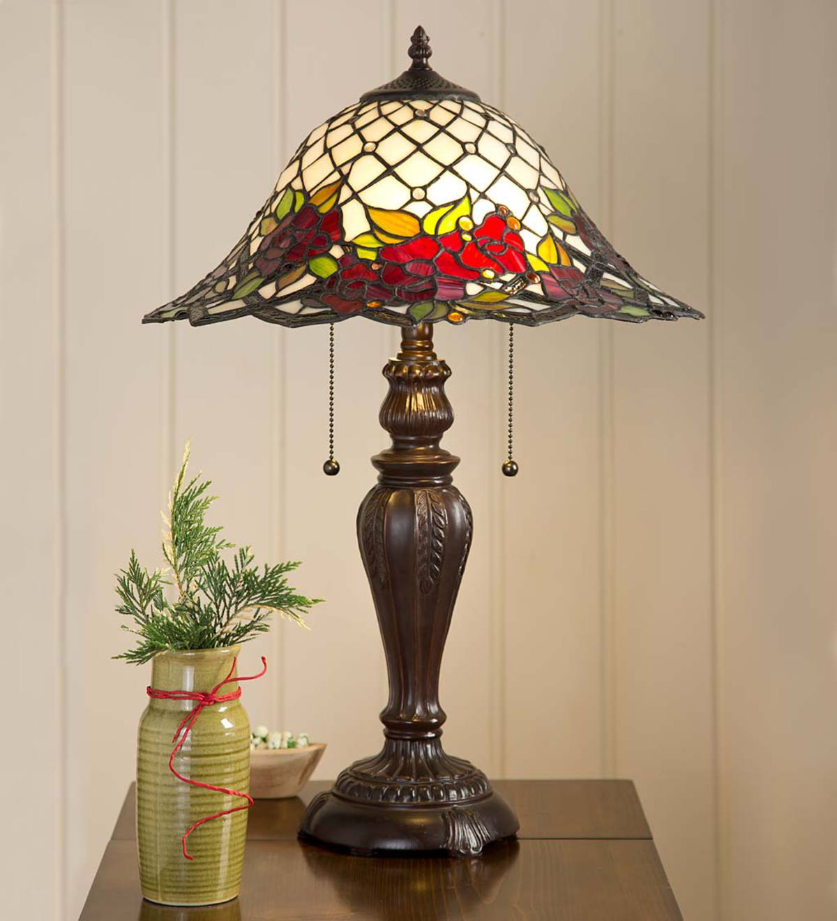 Chesterfield Tiffany Style Stained Glass Table Lamp Plowhearth