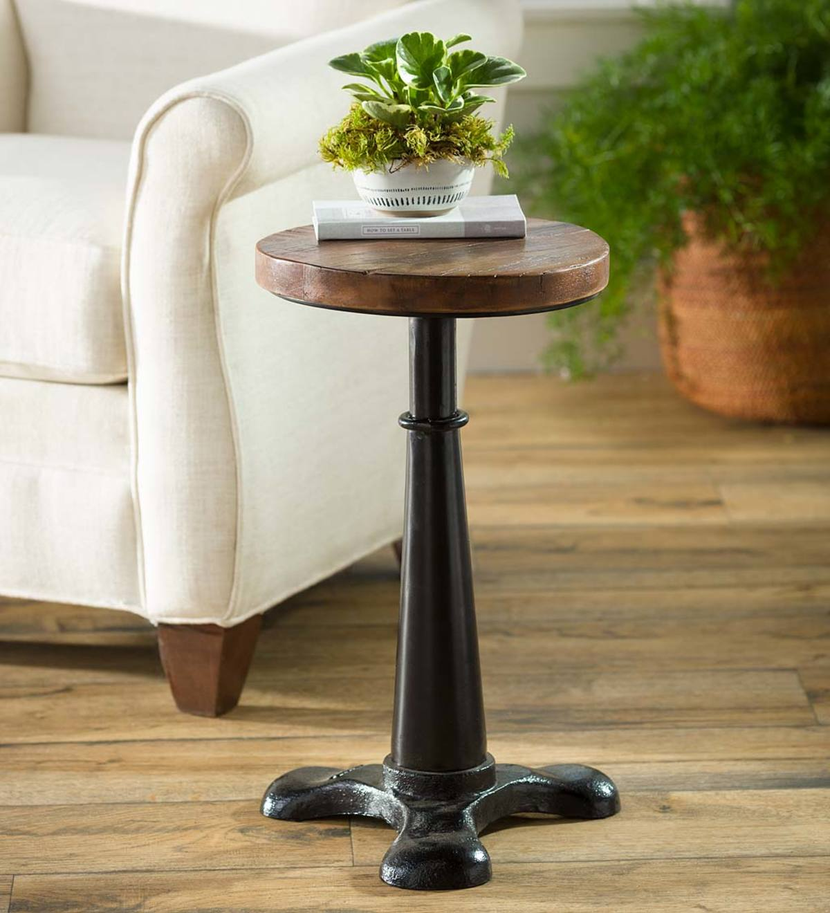 Picture of: Allegheny Reclaimed Wood Adjustable Height Table Plowhearth
