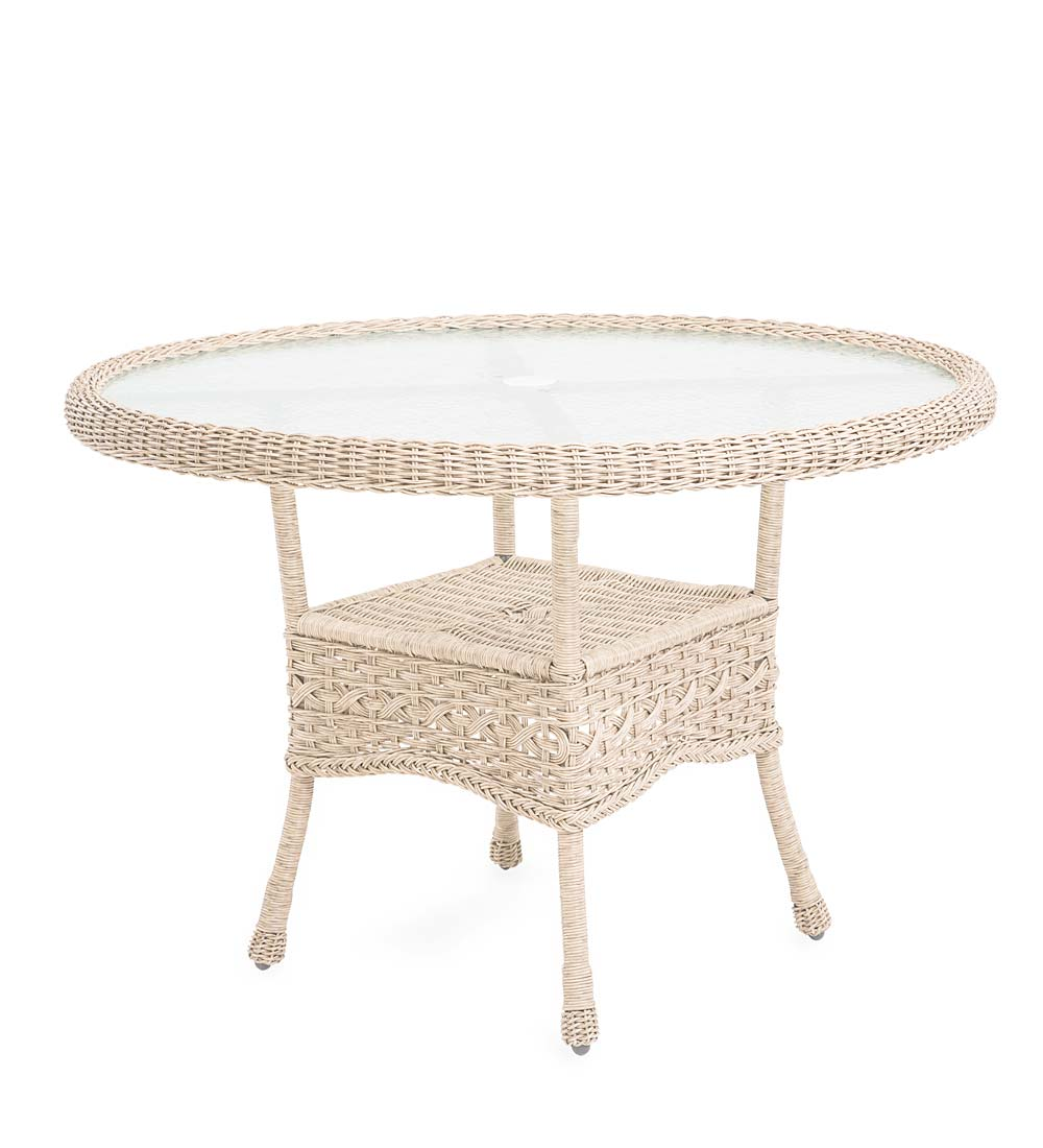 Prospect Hill Wicker Round Dining Table