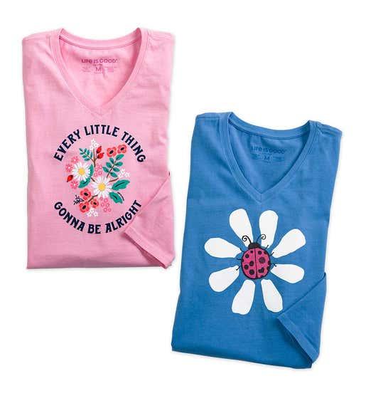 Image of Life is Good Tee-Shirt. Shop Footwear & Apparel