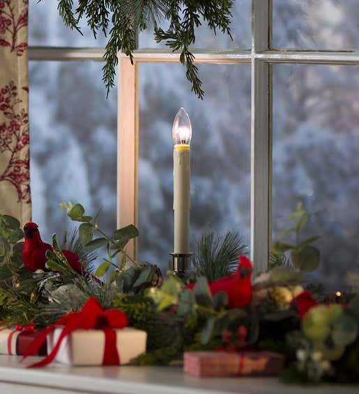 Image of a an Adjustable Height Window Candle. Shop Window Candles