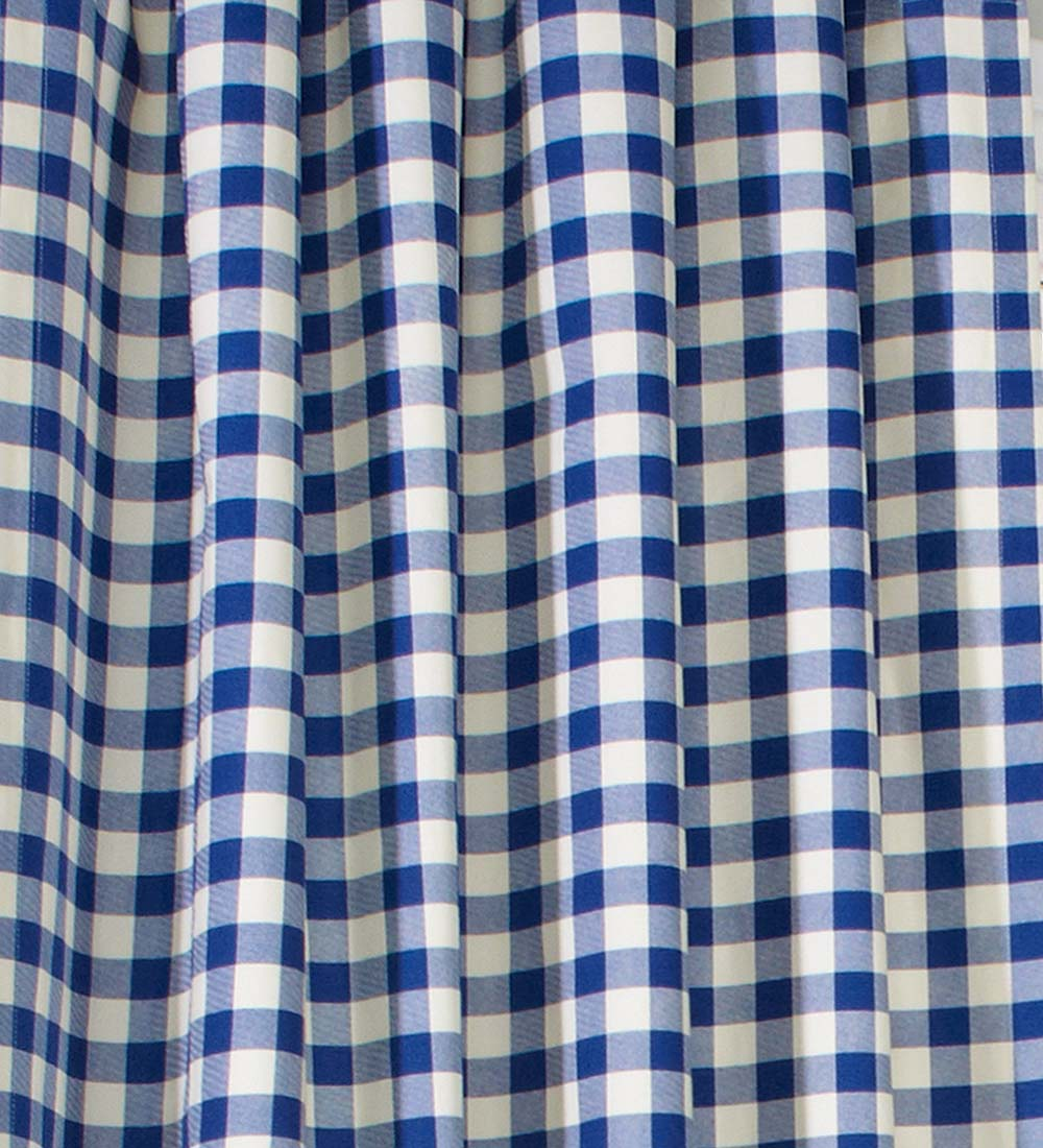 "15""L x 40""W Thermalogic Check Tab-Top Valance Curtain, in Blue"